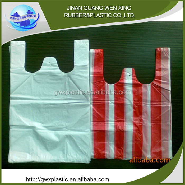 Plastic shopping bag accept custom order t-shirt bags