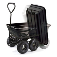Plastic four wheels garden tool cart TC4253