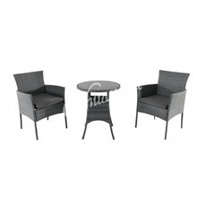 Classical style tea table and wicker chair cafe home terrace leisure outdoor garden furniture set