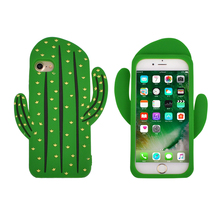 Custom Mobile Phone Silicone Case Cactus Shock Absorption Technology Bumper Soft Rubber Protection Cover For Iphone 7 7 Plus