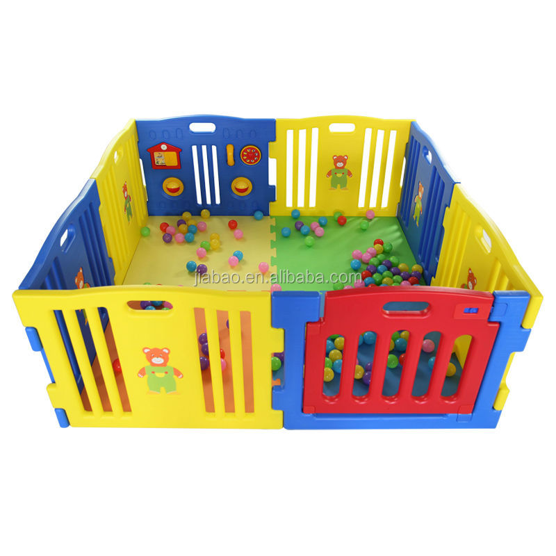8panel lovely baby playpen children yard pen with door(with ASTM F963) baby product