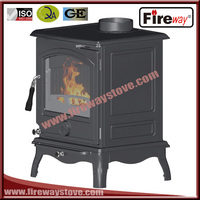 Fireway indoor wood heating removable ashpan cast iron stove