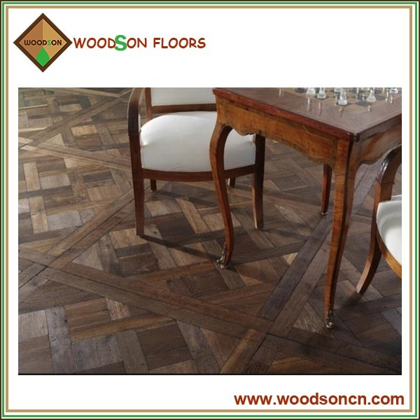Prefinished Solid and Engineered Versailles Parquet Wood Tile