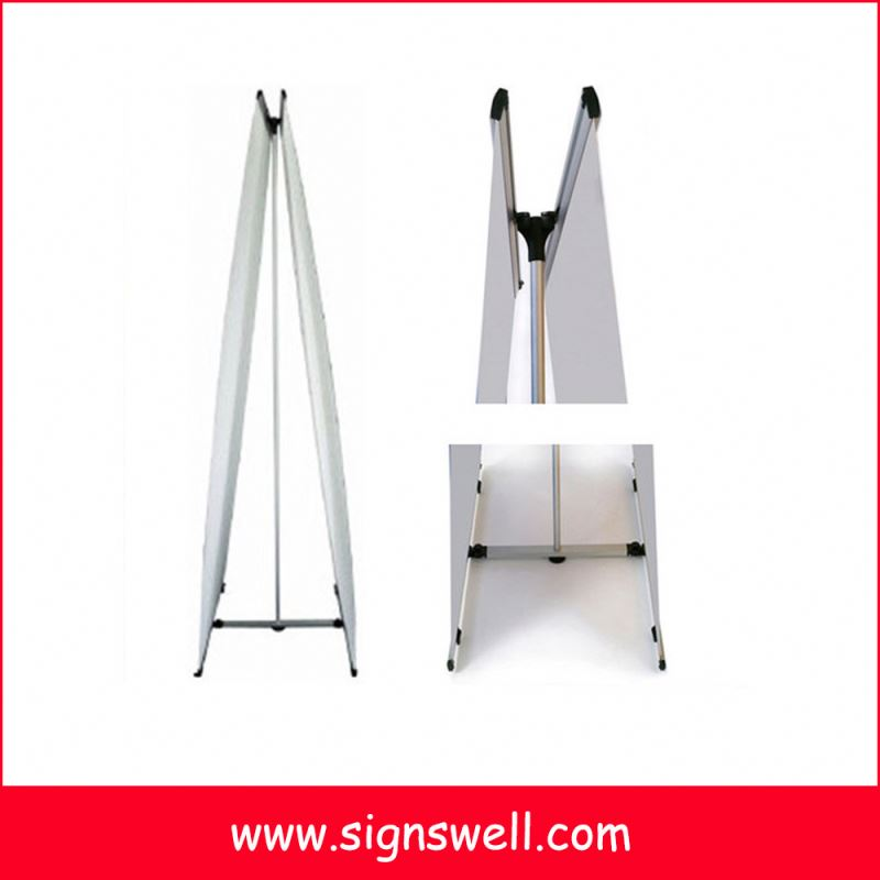 Adjustable metal advertising stand poster frame display stand for sale