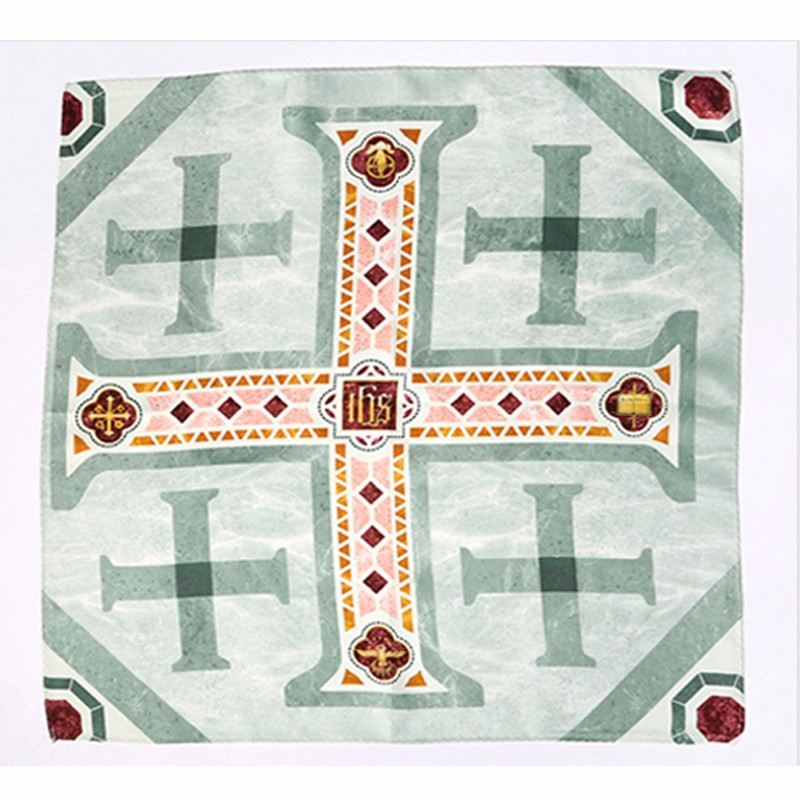 Crosses small square 45*45cm printed silk twill neckwear