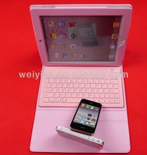 Leather Case For Ipad mini with bluetooth keyboard and stand