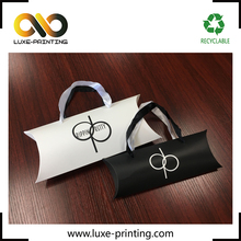 Custom logo creative printed fancy clothes paper packaging pillow box