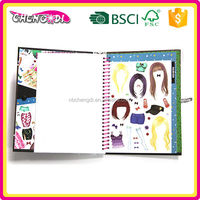 New Creative hardcover book printing, girls sticker book, gift for kids