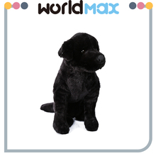China Made Graceful Black Dog Promotional Baby Plush Toy