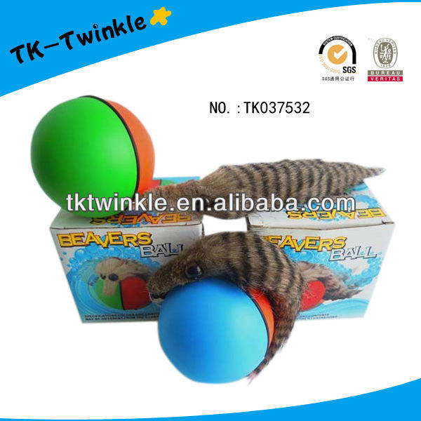 Twinkle toy hot sailing B/O colorful beaver ball