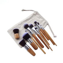 Hot Sale Soft Hair Personalized Makeup Kit 11pcs Bamboo Makeup Brushes For Beauty