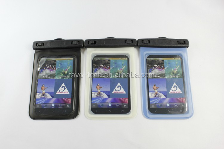 Very Popular Universal PVC Waterproof Plastic Bag Case With Strap For Mobile Phone