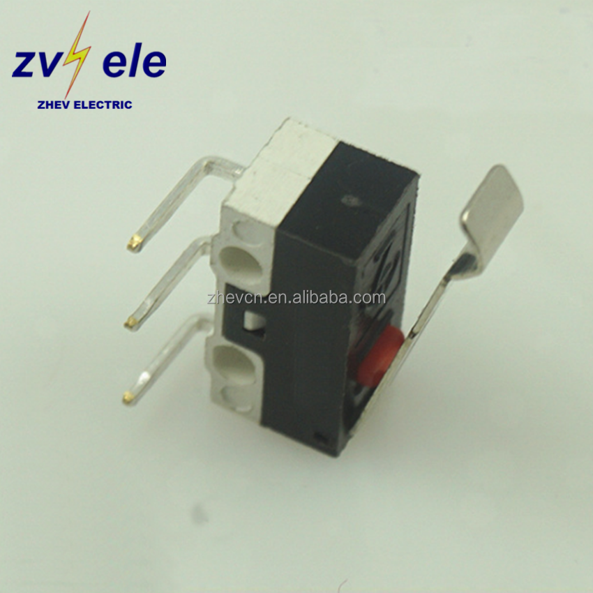 ZHEV switch 3pins DIP angle 90 1no1nc NO.4 level 0.5a 1a 125v mouse micro switches