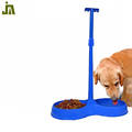 Small blue plastic pet food bowl