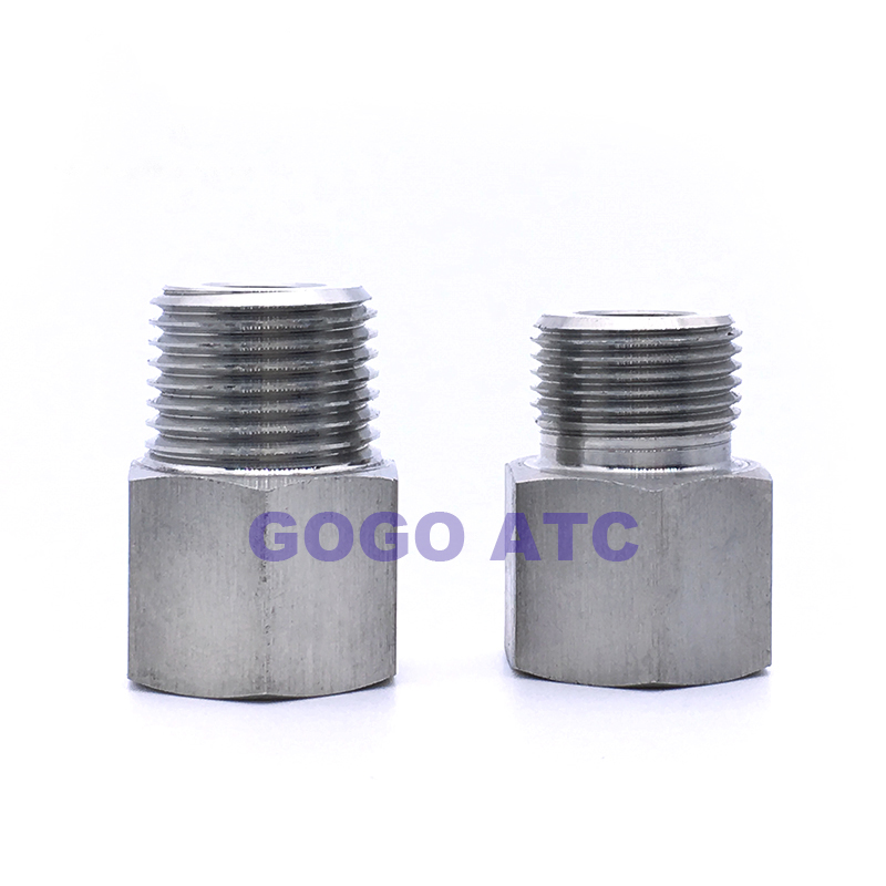 High quality quick coupler 3/8 female to 1/4 male thread adapters pipe distributors SUS304 straight stainless steel <strong>fittings</strong>