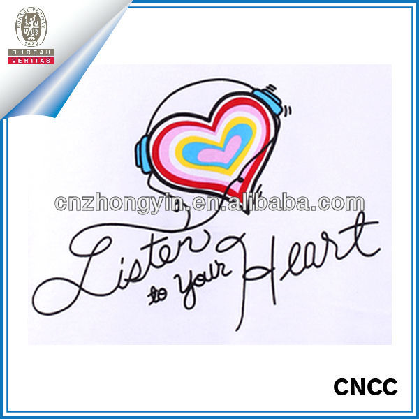 Custom Music Heart Temporary Tattoos (ZY3-4105)