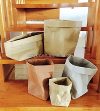 large medium small washable kraft paper bag brown black grey