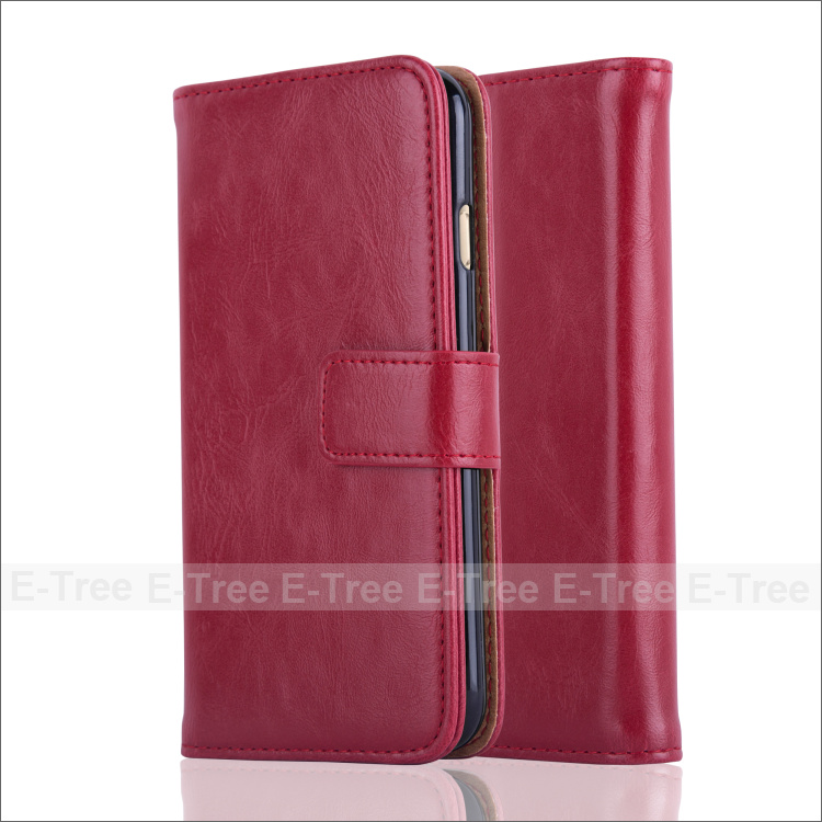 For iphone 6 New Design Wallet Case Flip PU Leather Case With Card Slots Stand