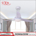 Hot Sale European Original Style Glass Lampshade Led 12W Remote Control Ceiling Lamp Fan