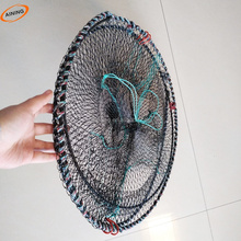 Foldable galvanized round fishing pots crab traps