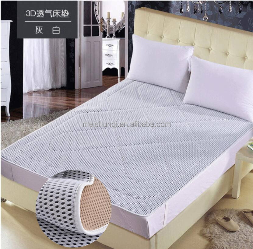 china manufacturer <strong>cotton</strong> mattress protector king air mattress of 3d spacer mesh <strong>fabric</strong>