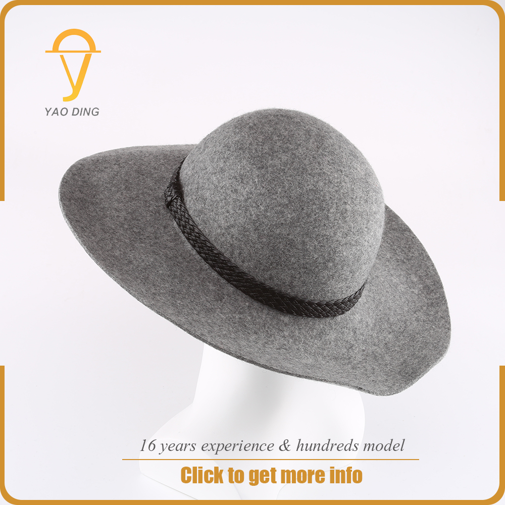 Wholesale bangladesh bulk woolen felt hillbilly wide brim floppy hat men women