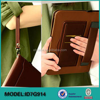 Factory price Stylish Kickstand leather Case cover for iPad 9.7 2017 New