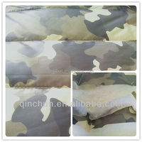 waterproof camouflage printed double sided quilted fabric for jacket and parka