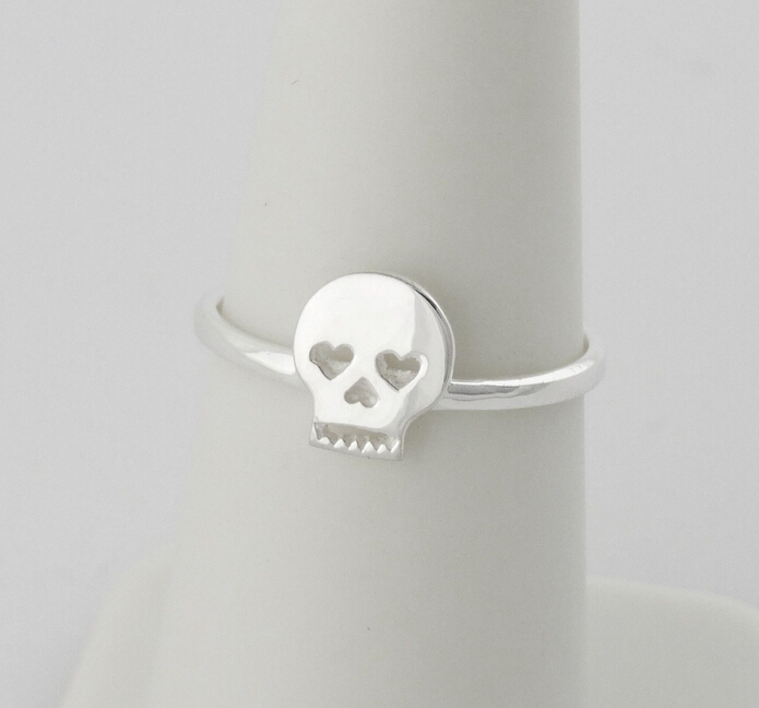 Sugar Skull Ring 925 Sterling Silver Day of the Dead Los Muertes Skull Ring