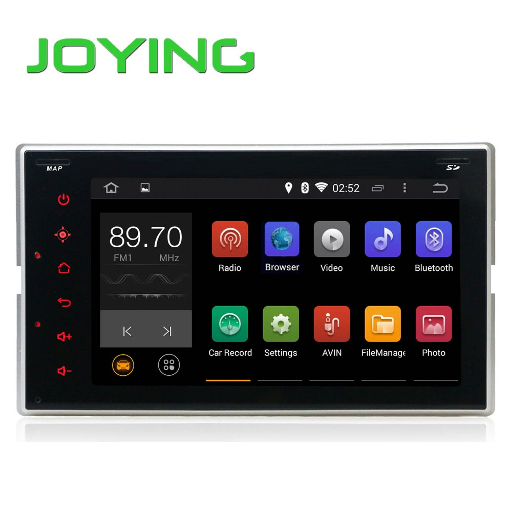 Joying CE certification 6.2 inch Pure Android Car dvd player for Universal Car 2 din with GPS navigation