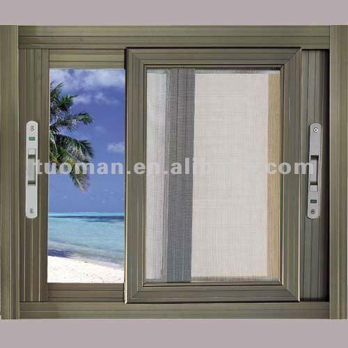 Vetro smerigliato finestra in alluminio vetrino id - Serranda porta finestra ...