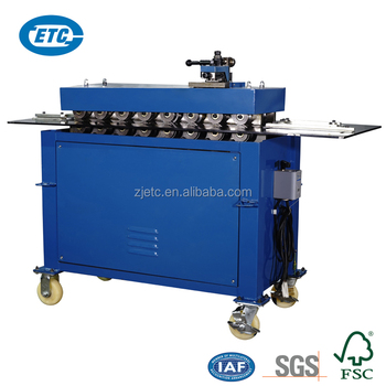 Hot Selling ETC Brand Ventilation Equipment Rectangular Air Tube /Pipe /Duct S Lock Former Machine