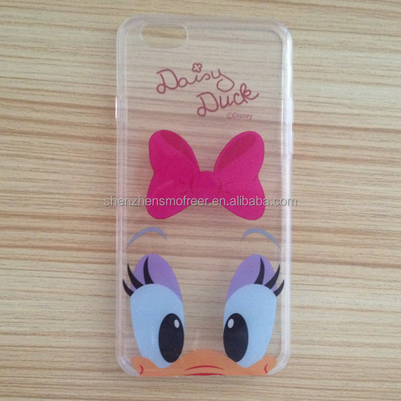 2015 new design Donald duck phone case for i phone 5 case, cute pattern mobile phone case for iphone 5S, tranparent phone case