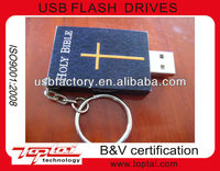 christian holy bible book shape ABS plastic usb 2.0 flash memory pen drive 8gb