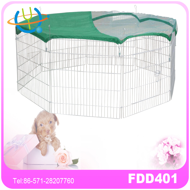 Foldable Metal Pet fence Exercise 8 Panels Dog Pen Fence Crate Cat Kennel Playpen