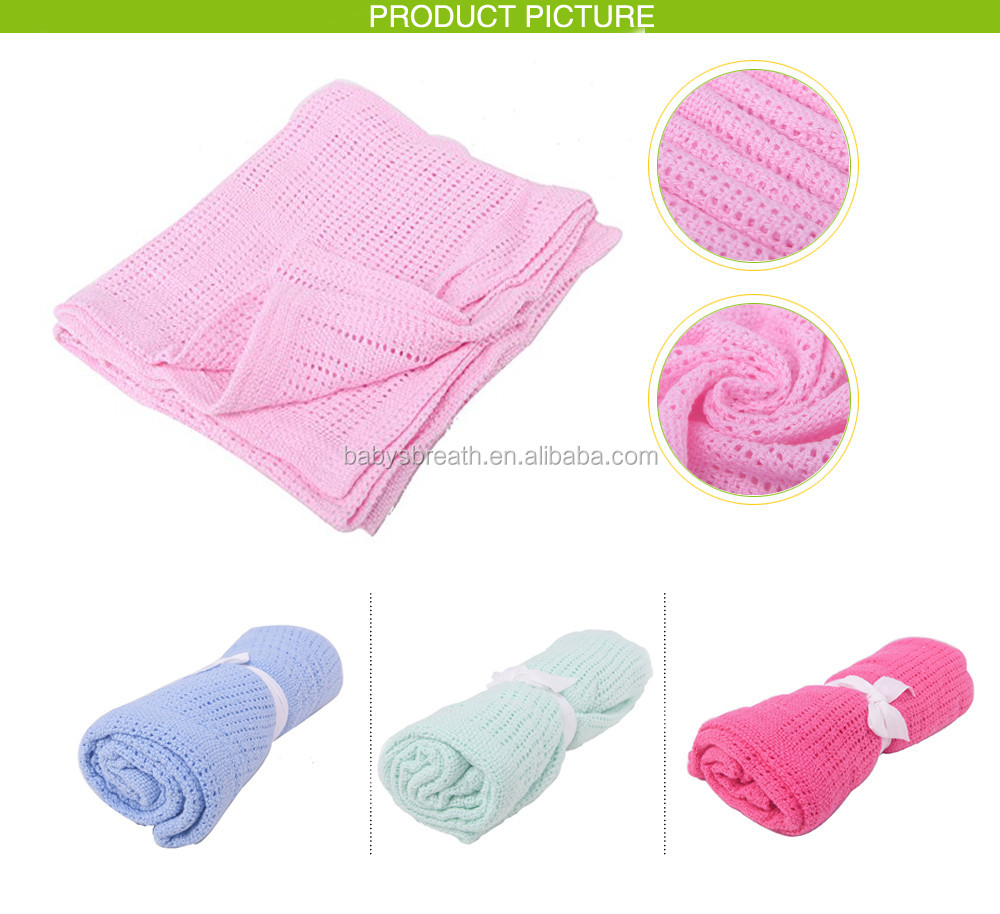 PB77 Wholesale Air Conditioning Cotton Blanket Baby Cellular Terry Cloth Blanket
