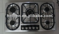 high guality pulse or auto ignition built-in 5 burner gas cooker stove
