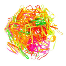 200pcs/lot Disposable Elastic Hair Bands Multicolor Cheap Hair Accessories