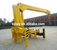 5 Ton articulated/knuckle boom truck mounted hydraulic crane, truck mounted crane