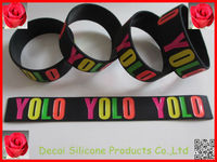 Black wristbands with colors YOLO cheap slicone wristbands,silicone balance bracelet,Bracelet alibaba france