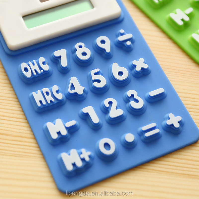 Office and business Promotional Gifts Silicone 8 Digits Waterproof Solar Flexible Silicone Soft Rubber Calculator