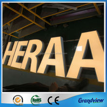 CE SGS RoHS approved custom acrylic led edge lit sign