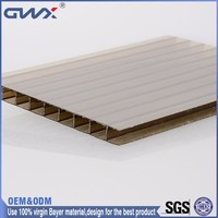 Polycarbonate hollow sheet high impact resistance polycarbonate stadium roof material