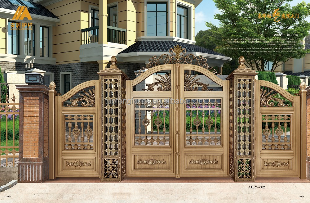 Metal material gate design/ Turnstile Gates metal gate/ Security spear top wrought hous gate design