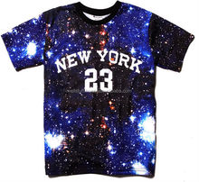 Galaxy printed t shirts / all over galaxy printed t shirts / galaxy sublimation printed t shirt