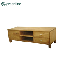 Wooden lcd TV unit corner modern cabinet stand design