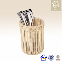 Handicraft gift grey wicker laundry basket made in china