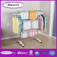 Movable lift laundry drying rack