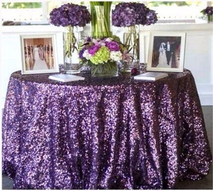 FASHIONABLE wedding banquet hotel sequin table cloth