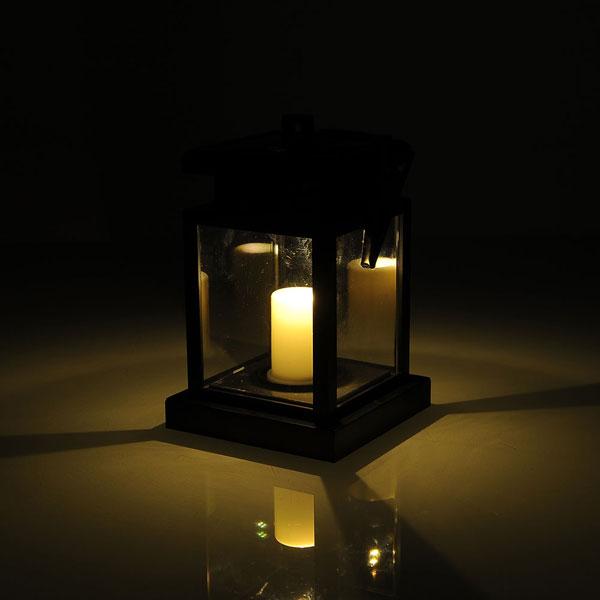 China Manufacturer Solar Outdoor Lighting Decorative Candle Sharp Lantern B
